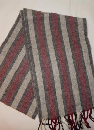 Очень мягкий шарф 160×24 , бахрома 7см.