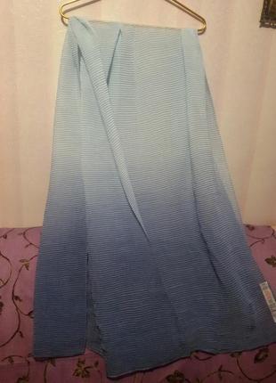 Большой плиссированный шарф-палантин