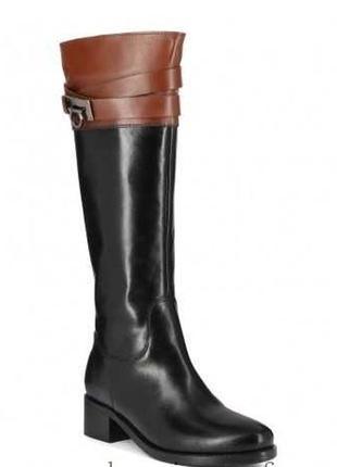 Чоботи шкіряні утеплені бренду san marina leather boot 38 оригінал сапоги