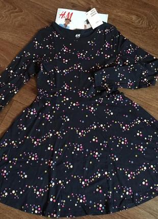 Платье h&m france basic; звезды; из мягкого хлопка; 134-140см5