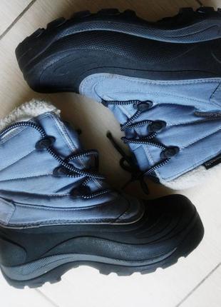 Ботинки columbia 36 37 22,5 см голубые зимние сноубутсы