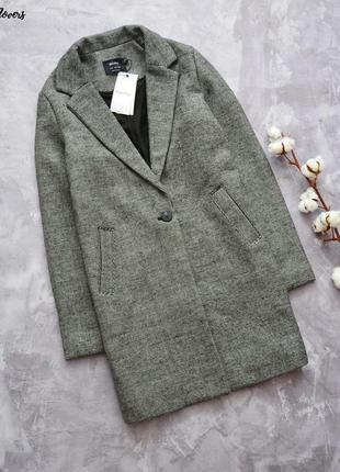 Cтильное бойфренд пальто c шерстью