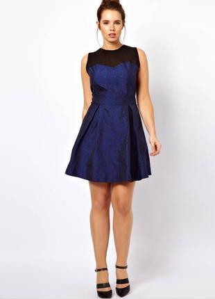 26 размер красивое нарядное брендовое платье asos
