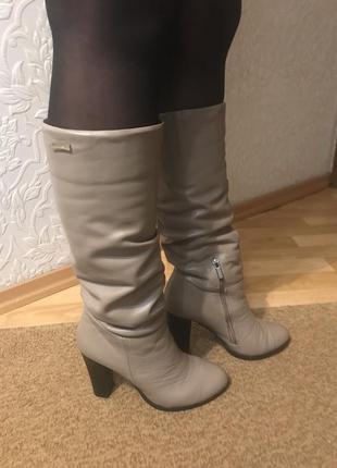 Кожаные сапоги, зима roberto netti