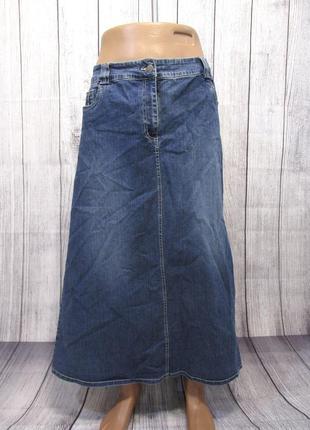 Юбка джинсовая макси universal jeans, 18 (l, 52), отл сост!
