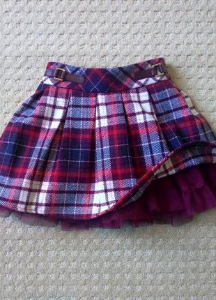 Супер юбка клетка с пышной юбкой nutmeg 2-3