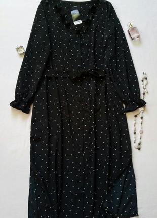 Платье-рубашка с принтом в сердечки на шикарную девушку