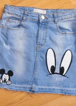 Крутая джинсовая юбка, zara