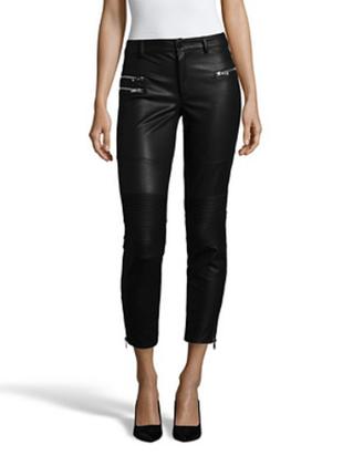 Новые брюки стретч twin-set by simona barbieri it44 (m слим/в обтяжку эффект кожаных