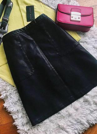 Новая кожаная юбка new look m