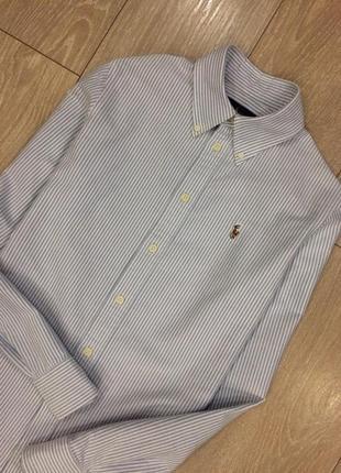 Рубашка котоновая в полоску ralph lauren