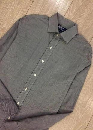 Рубашка в клетку размер m-l ralph lauren