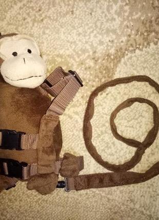 Оригинальные вожжи с обезьянкой