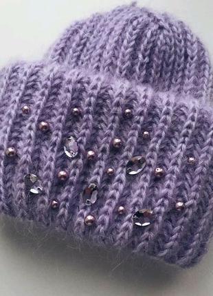 Теплая оригинальная шапка