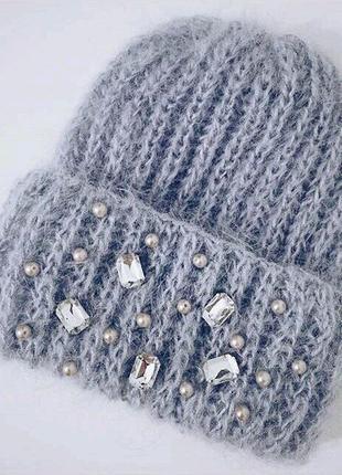 Стильная шапка hand made♥