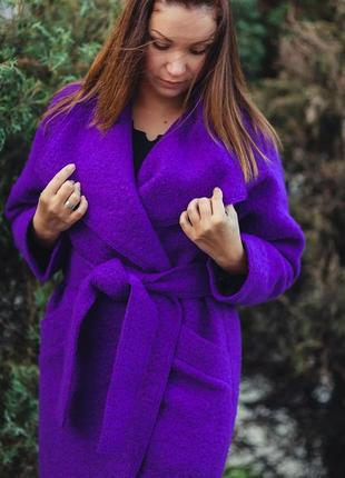 Пальто на запах халат яркое