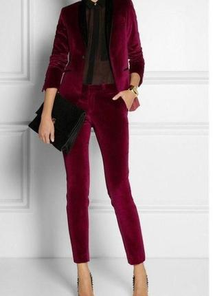 Бархатные брюки винного цвета atmosphere