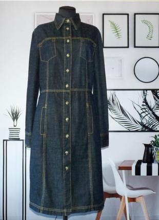 Платье джинсовое в рубашечном стиле