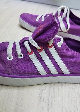 Фиолетовые кеды adidas