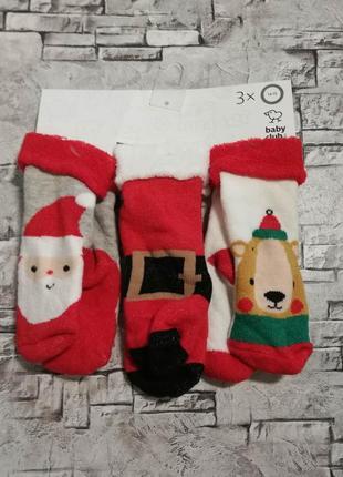 Набор красивых новогодних носочков, c&a