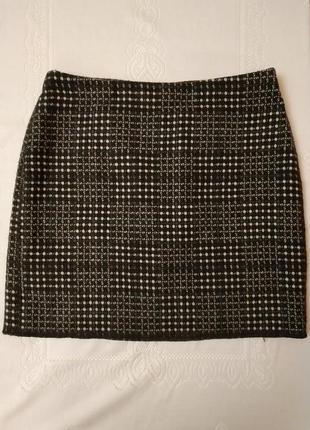 Стильная тёплая 25% шерсть комфортная юбка opus германия