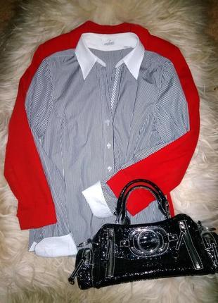 Van laack рубашка дорогого бренда, в полоску/// много интересного///