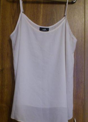 Шифоновая блузка майка на регулируемых бретелях бренд wallis