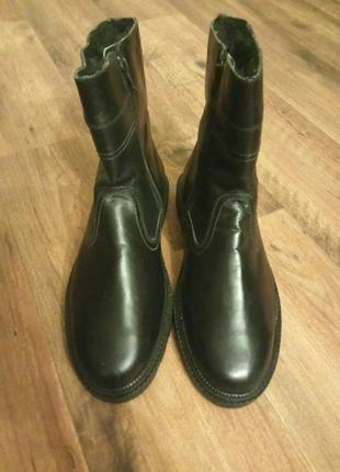 Кожаные мужские сапоги