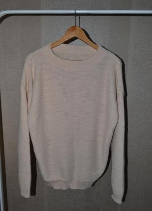 Базовий бежевий светр