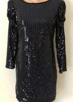 Шикарное платье в пайетках ax paris