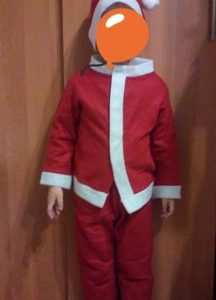 Новогодний костюм детский санта
