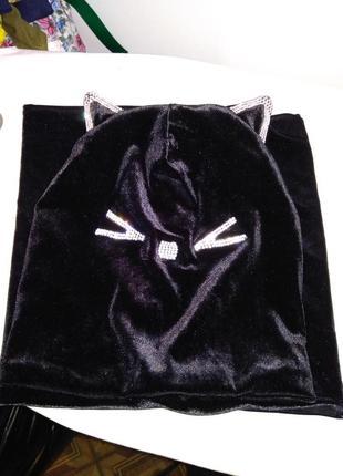 Шапка+хомут зимовий на флісовій підкладці на вік 3-8рочків