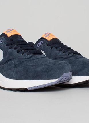 Nike air max 1 premium atomic orange 2014 кроссовки мужские новые в коробке оригинал