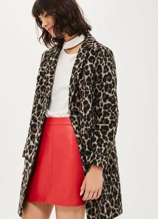 Трендовое пальто topshop леопардовый принт
