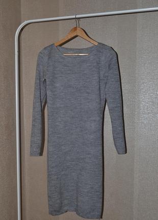 Шерстяна зимова сукня міді
