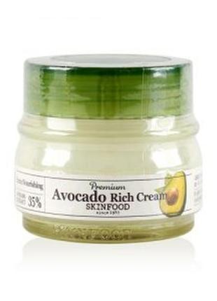 Питательный премиум крем skinfood - premium avocado rich cream, 35% авокадо,