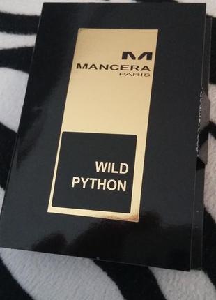 Пробник mancera wild python новинка 2018