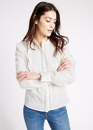 Блуза коттоновая в винтажном стиле