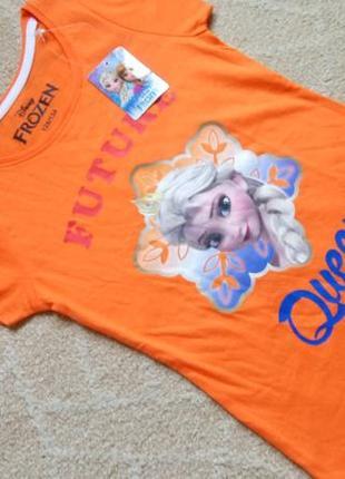 Big sale! новая футболка эльза frozen disney на 8-9 лет