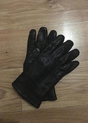 Теплые мужские кожаные перчатки