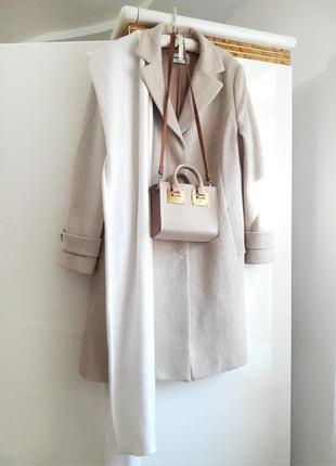 50 р шерсть брендовое пальто миди прямое