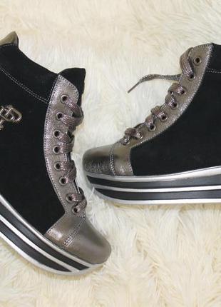 Новогодние скидки, бесплатная доставка, зима, кроссовки ботинки, платформа, с 36-40р