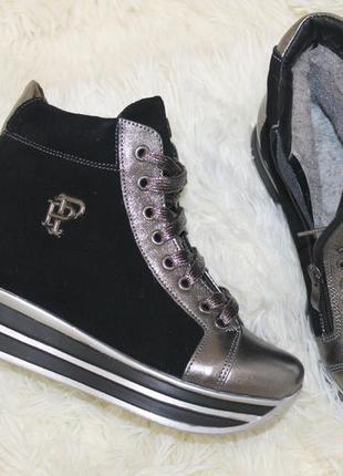 Новогодние скидки, зима, кроссовки ботинки, платформа, с 36-40р2 фото