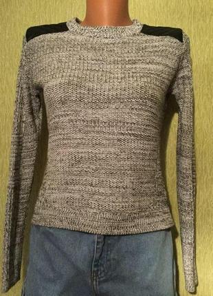 Трендовый меланжевый свитер  h&m размер xs