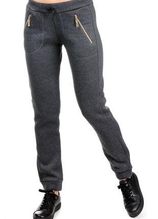 Зимние с начёсом спортивные штаны,брюки женские.