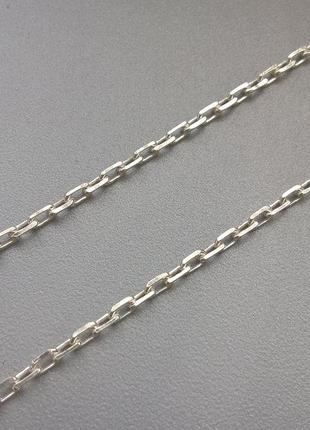 Серебряная цепь, якорное плетение, 50см