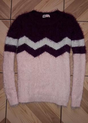 Стильный свитер травка, реглан h&m, р.11-12лет.