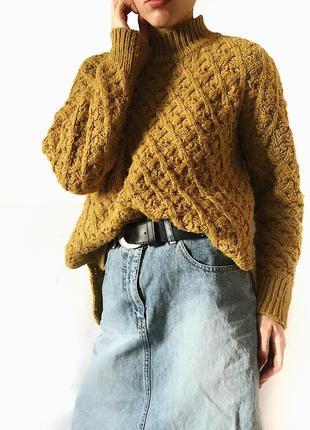 Очень тёплый плотный свитер tu крупной вязки