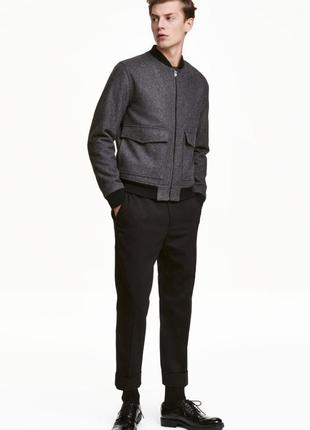 Костюмные брюки из твила  h&m
