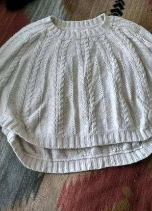 #розвантажуюсь шерстяная накидка пончо свитер кардиган белый молочный h&m